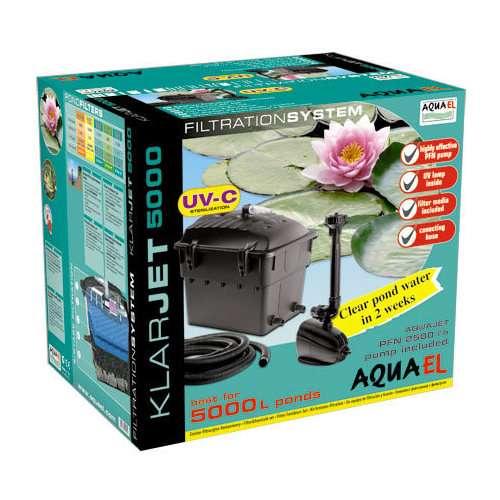 Filtro pompa 2500 l h lampada uv 5w per laghetto 5m3 for Filtro per laghetto esterno