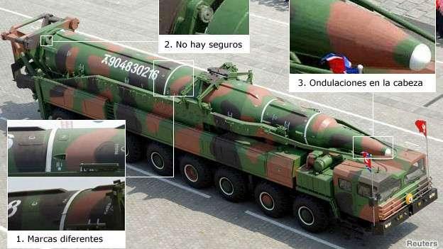 noticias los misiles que exhibe Corea del Norte son falsos