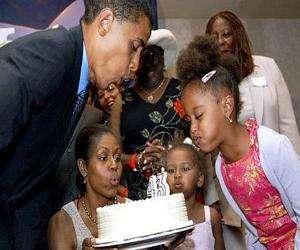 Barack Obama celebrated his 43rd birthday