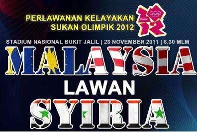 malaysia u23 vs syria u23, keputusan terkini malaysia u23 vs syria u23 2011